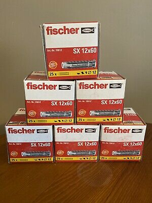 FISCHER SX12 X 60mm High Performance Wall Plugs 4way Expansion H/duty 12mm • 7£