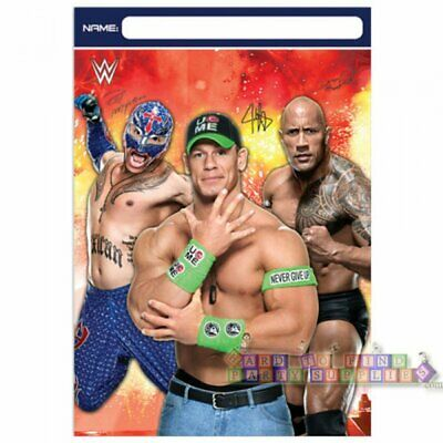 WWE WRESTLING BASH FAVOR BAGS (8) ~ Birthday Party Supplies Loot Treat Goody • 2.85£