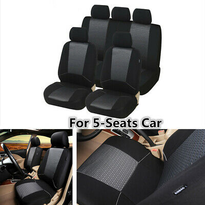 $ CDN46.39 • Buy Polyester Fabric Car Seat Covers Protector Full Set For Interior Accessories
