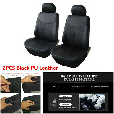 $ CDN26.28 • Buy 2Pcs Car Seat Covers Cushion Full Surround PU Leather For Interior Accessories