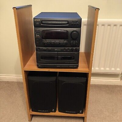 Aiwa Sound System NSX-430 Digital Audio CD Tapes Cassettes Wharfedale Speakers • 79.99£
