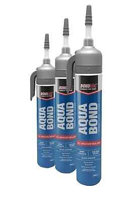 Underwater Sealant  Leak Repair Pond Fix POWERCAN Black 3 X 200ml • 26£