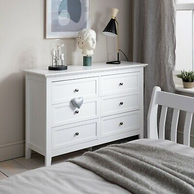 Chest Of Drawers Bedside Cabinet In White Karlstad • 129.99£