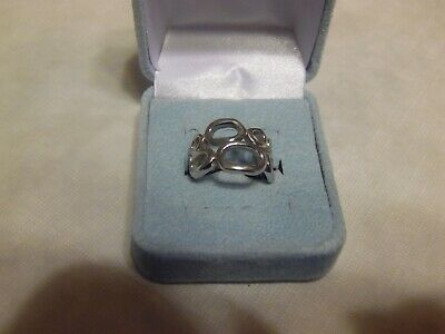 $ CDN13.62 • Buy Lia Sophia Silver Open Weave Band Ring  Structure  Size 7 NEW