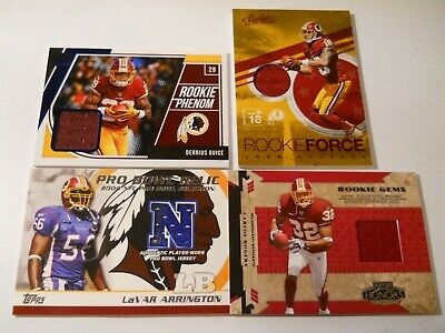 $0.99 • Buy Washington Redskins 100 Card Lot 4-jerseys All Listed Derrius Guice, Doctson
