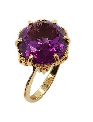 AU690 • Buy 10CT Yellow Gold Vintage Color Change Alexandrite Ring