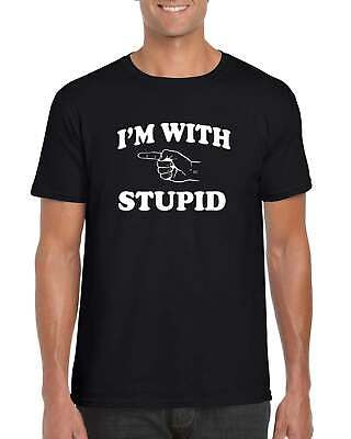 I'm With Stupid Classic T Shirt Mens Womens Unisex • 9.95£