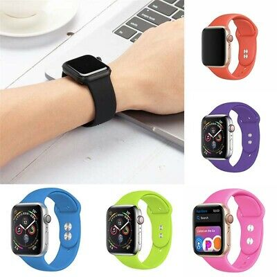 $ CDN5.22 • Buy Silicone 4 5 Watch Band Series 38/42/40/44mm 3 Sports 2 Strap For Apple IWatch 1