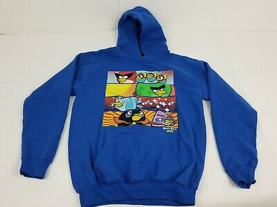 £7.09 • Buy ANGRY BIRDS BOYS BLUE PULLOVER HOODIE  SIZE Ym 10-12