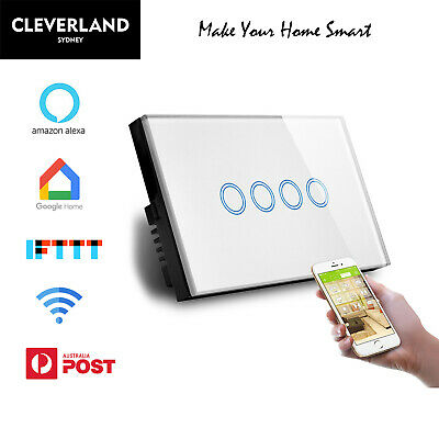 AU65.50 • Buy AU Smart Home Wifi Touch Fan Light Switch Google Home Alexa APP Remote Control