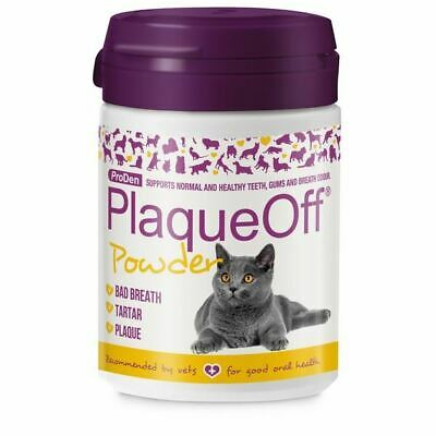 Plaque Off Powder For Dogs Cats Bad Breath Tooth Tartar Plaque Removal Pet 40g • 15.92£
