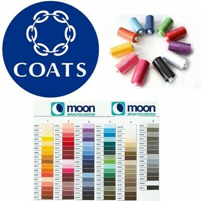 Moon Thread Coats Polyester 1000 Yard Sewing Machine Multi Buy Discount • 0.99£