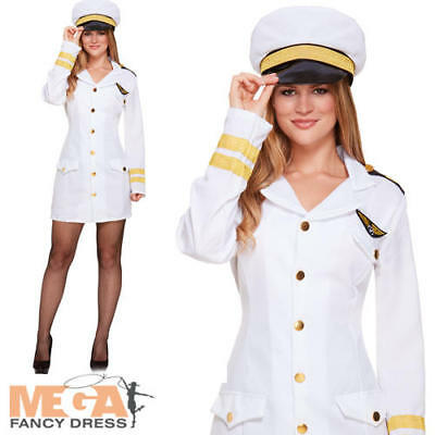 AU23.16 • Buy Navy Girl Fancy Dress Nautical Military Sailor Womens Uniform Ladies Costume