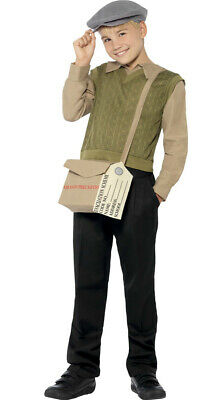 Boys  WW2 WW1 Country Evacuee Historical Book Day Fancy Dress Costume Outfit • 18.99£
