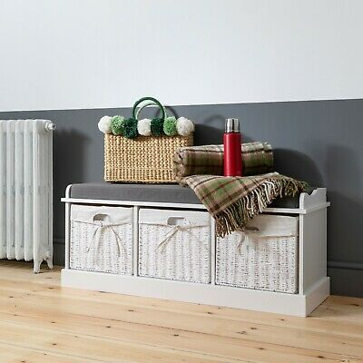 Hallway Bench Shoe Storage Entrance In Choice Of Colours • 89.99£