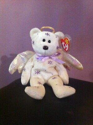 Halo Ty Beanie Baby RARE With Purple Stars • 175£