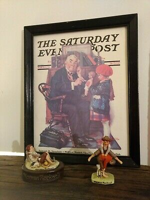 $ CDN74.07 • Buy Lot Of 3 Vintage Norman Rockwell Saturday Evening Post 1 Picture  2 Figurines