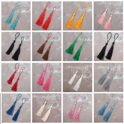 10 X TASSELS *38 COLOURS* BOOKMARKS CRAFTS CARD MAKING DRESS CUSHION 13cm • 1.99£