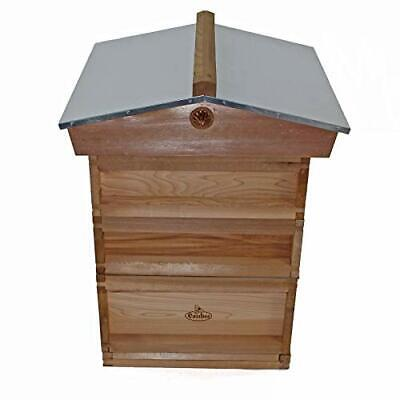 £234.99 • Buy National Bee Hive Gabled Roof Cedar 2 Super 1 Brood With Frames And Wax Easibee
