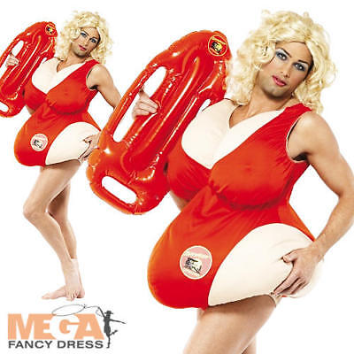 £39.99 • Buy Baywatch Padded Swimsuit Mens Fancy Dress Novelty Lifeguard Adults Stag Costume
