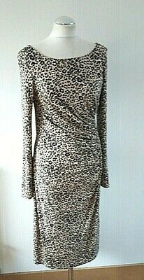 AU71.44 • Buy LK Bennett Animal Print Fitted Dress 100% Knitted Silk UK 14 EU 42 Wedding Guest