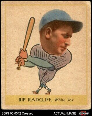 $99 • Buy 1938 Goudey Heads Up Rip Radcliff #261 / #285 White Sox 3 - VG