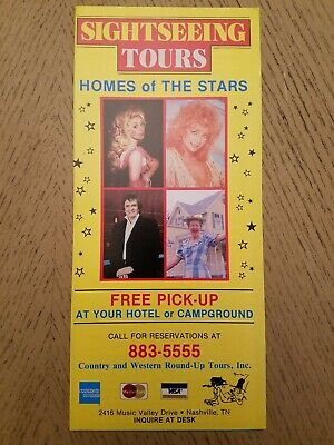 $7.50 • Buy 1986 10 Sightseeing Bus Tours Stars Homes Brochure Nashville Tennessee Opryland