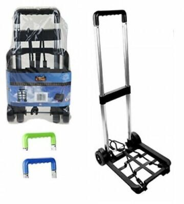 £12.49 • Buy Folding Luggage Carrier Fold Up Wheels Foldable Boot Cart Shopping Golf Trolley