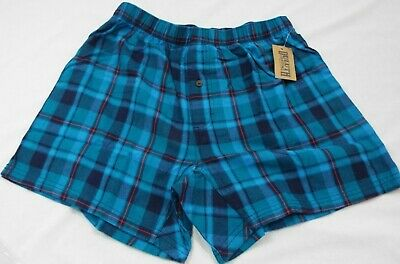 $28.04 • Buy 1 Duluth Trading Co Free Swingin' Flannel Boxers Blue And Red Plaid 94230