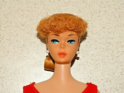 $ CDN205.10 • Buy Barbie:  VINTAGE Blonde PONYTAIL BARBIE Doll W/Coral Lips!