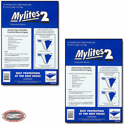 $34.95 • Buy 100 - Mylites 2 Golden Age 2-Mil Mylar Comic Book Bags By E. Gerber - 800M2