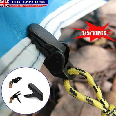 Crocodile Clips Clamps Attaching Tent Anti Wind Blow Away Plastic Accessories UK • 3.11£