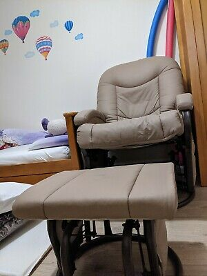 Nursery Rocking Chair And Matching Foot Stool • 75£