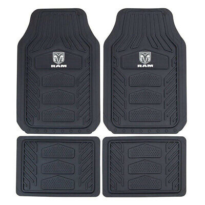 $49.49 • Buy 4pc DODGE RAM All Weather Pro Heavy Duty Rubber Floor Mats Set Official Licensed