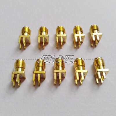 $4.30 • Buy 10X SMA Female Jack Solder Edge 1.6mm Space PCB Mount Straight RF Connector M529