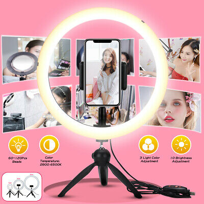 AU32.49 • Buy 12.6'' 120 LED Dimmable Ring Light For Phone Studio Video Make Up Lamp Tripod