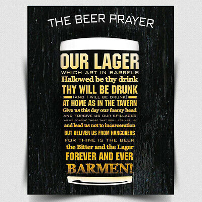 £4.45 • Buy BEER PRAYER METAL SIGN WALL PLAQUE Lager Retro Funny Drinking Sign Bar Man Cave