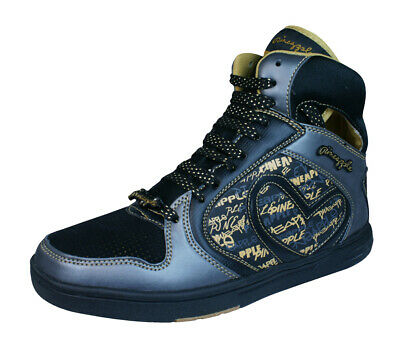 £14.90 • Buy Pineapple Womens High Top Trainers Ankle Shoes -  Black Gold