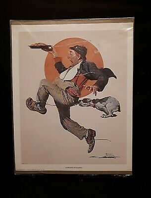 $ CDN15 • Buy Vintage Norman Rockwell Print By Donald Art Co (Sealed) Dog Chasing Man With Pie
