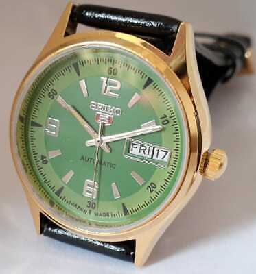 $ CDN31.70 • Buy  Vintage Seiko 5 Automatic Japan Made Movement No.6309 Gold Plated Men's Watch