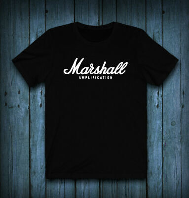 $ CDN24.36 • Buy Marshall Amplifier Logo T-Shirt Tee Exclusive 100 Cotton Vintage Men Gift Tee