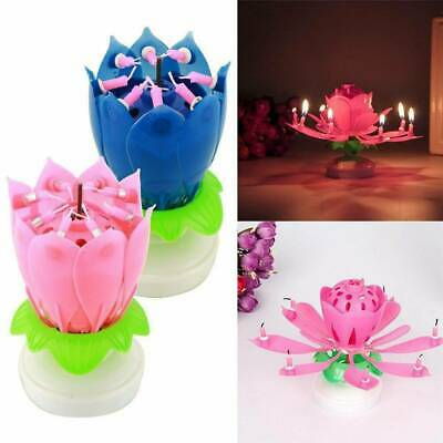 $ CDN5.54 • Buy ROTATING Lotus Candle Birthday Flower Musical Floral Cake Candles & Music Magic'
