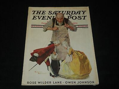 $ CDN95.68 • Buy 1932 October 22 Saturday Evening Post Magazine - Norman Rockwell Cover - L 1265