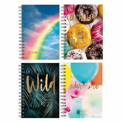 £3.25 • Buy 2021-2022 A5 Week To View Academic Diary Hardback Spiral Student Teacher Diary