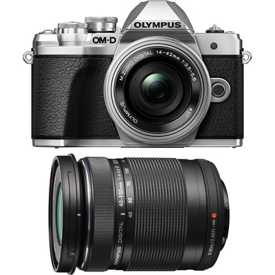 Olympus OM-D E-M10 II Camera With 14-42mm EZ And 40-150mm Twin Lens Kit - Silver • 529£