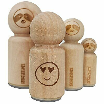 $3.99 • Buy Heart Eye Love Emoticon Face Doodle Rubber Stamp For Stamping Crafting Planners