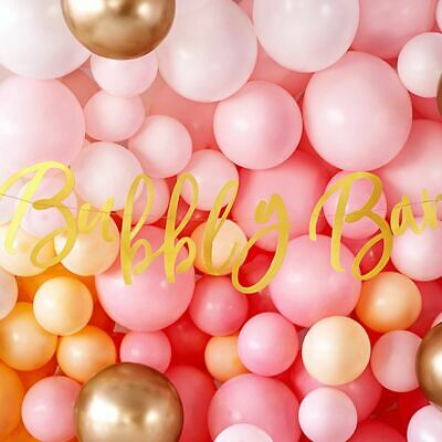 £4.50 • Buy Bubbly Bar Gold Party Banner Birthday/Hen Party Banner 2m