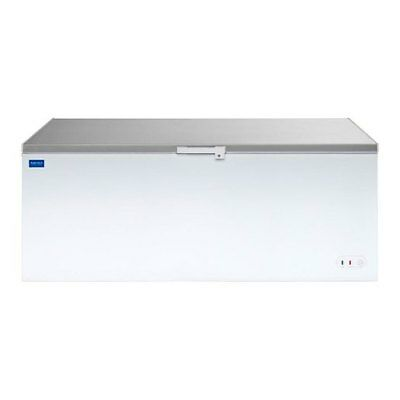 Arctica Chest Freezer White With S/s Lid 550 Litre - HEC918 Catering Commercial • 870.50£