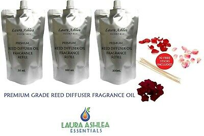 AU18.95 • Buy Reed Diffuser Oil Refills +10 Sticks Premium Grade Base Refill 50m, 100m, 200m