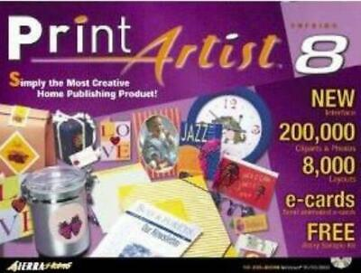 Print Artist 8.0 Platinum PC CD Create Full Color Personalised Projects! 7CDs • 15.60£